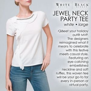 White House   Black Market JEWEL NECK PARTY TEE